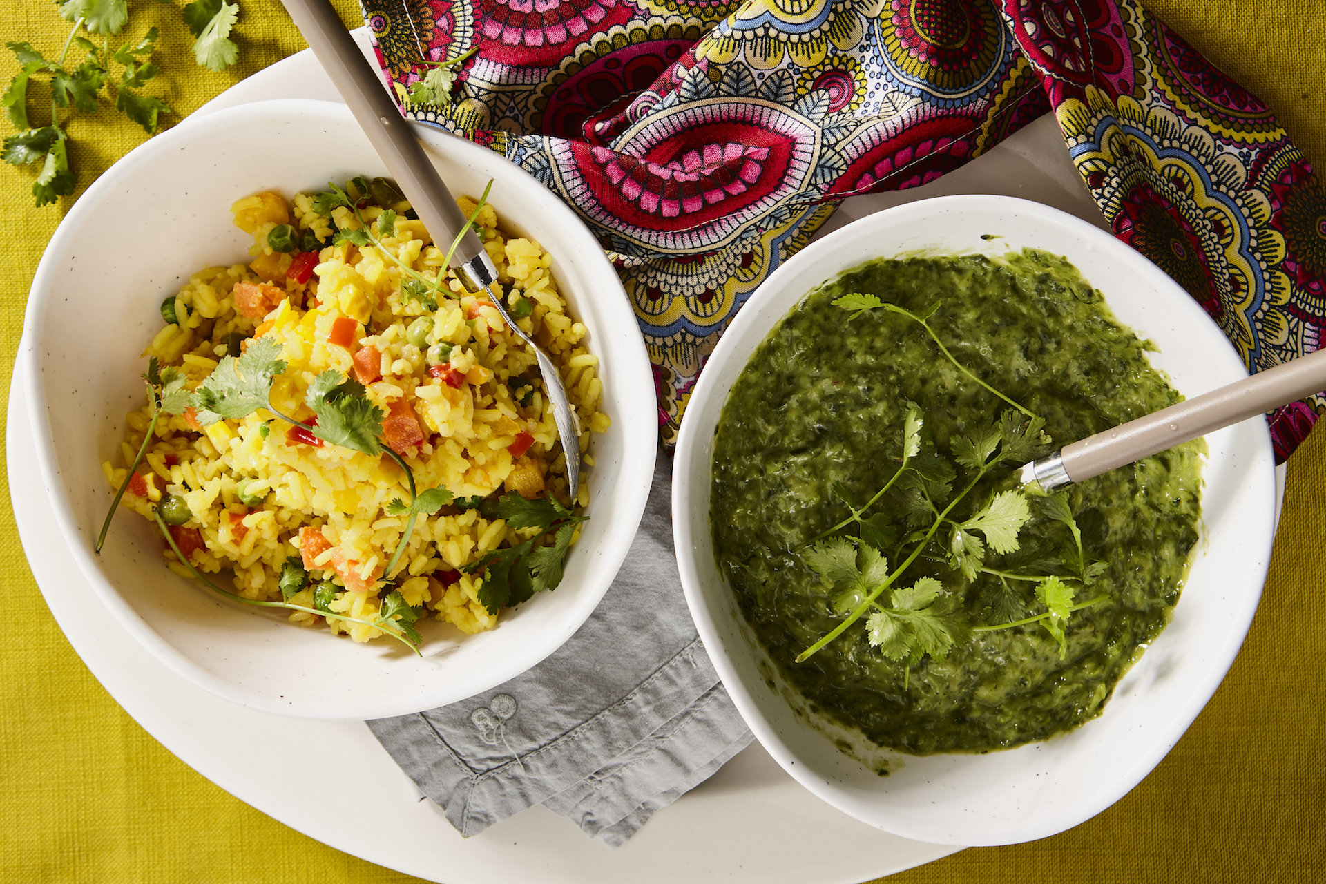 Savoury Rice & Creamed Spinach