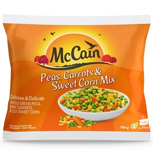 Peas, Carrots & Corn 750g