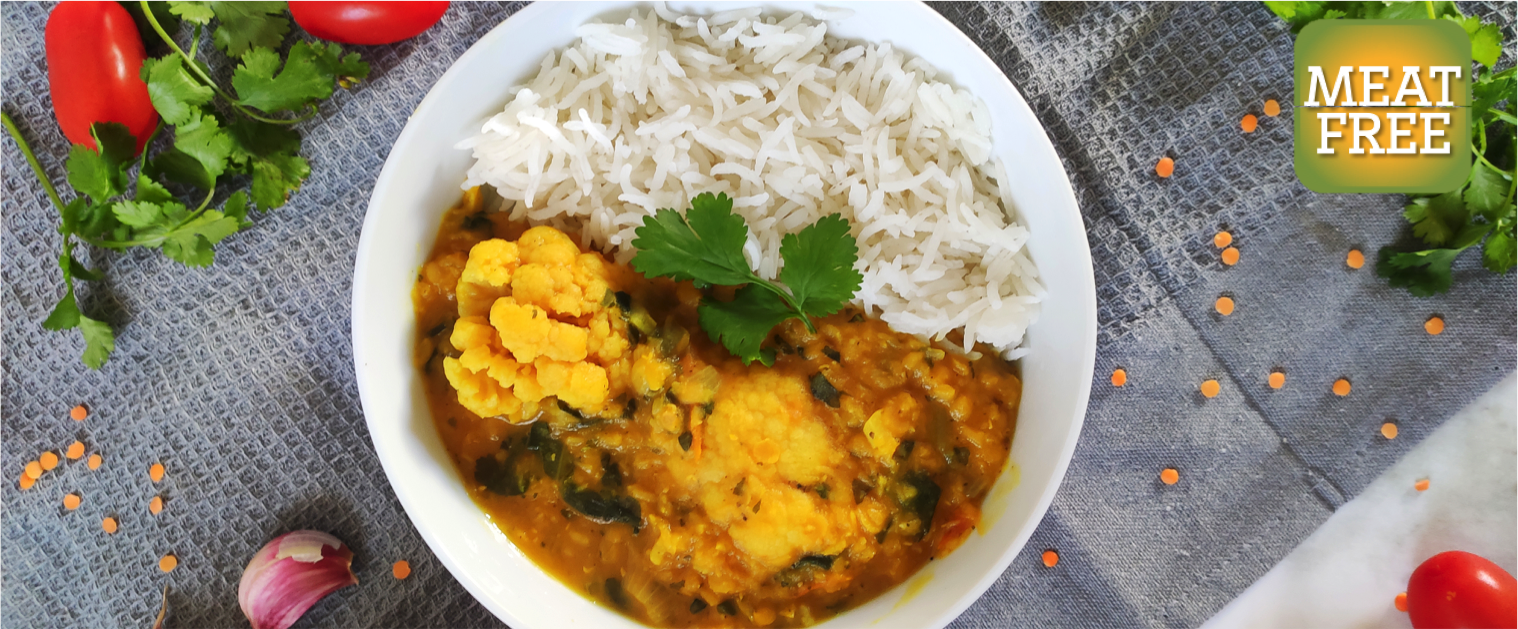 Dahl with Cauliflower & Spinach