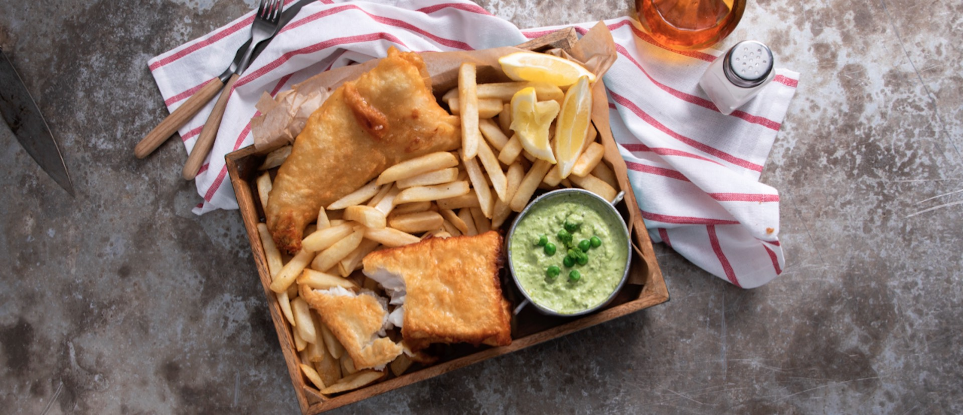 Fried Fish with Slap Chips