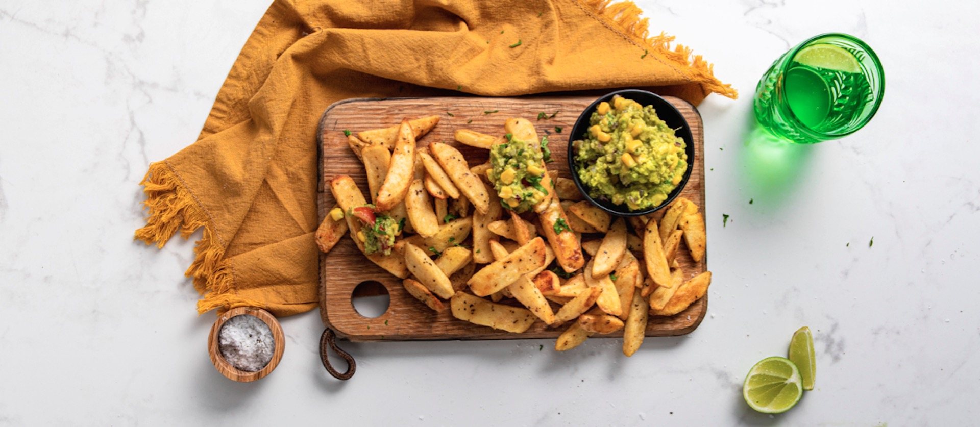 Oven Chips With Guacamole Dip
